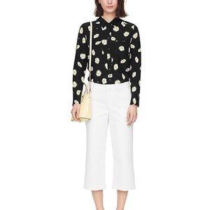 Kate Spade fresh white denim culottes